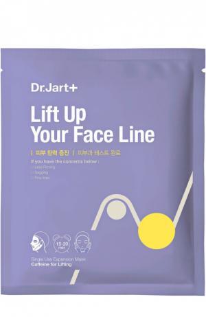 Маска с кофеином для интенсивного лифтинга Dermask Lift Up Your Face Line Dr.Jart+. Цвет: бесцветный