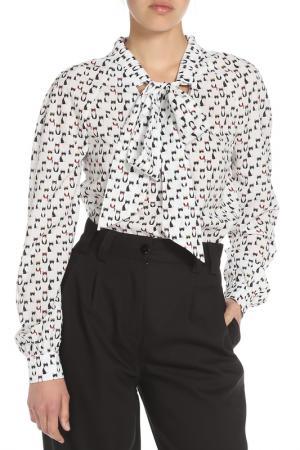 Блузка Ketroy. Цвет: белый, котята