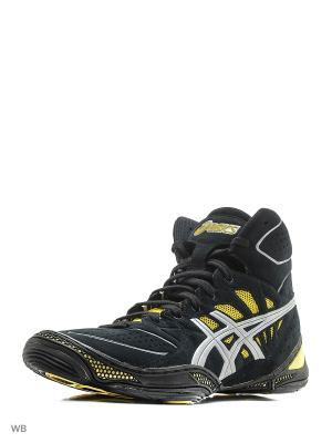 Спортивная обувь  DAN GABLE ULTIMATE 3 ASICS. Цвет: черный, желтый, серебристый