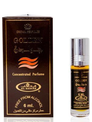 Арабские масляные духи Золотой (Golden), 6 мл Al Rehab. Цвет: темно-коричневый, коралловый
