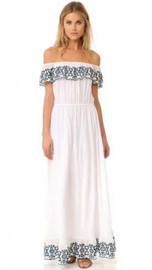 Макси-платье Loren PAMPELONE. Цвет: белый
