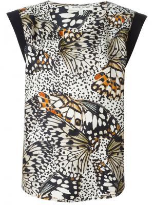Топ Atlanta Butterfly Valentine Gauthier. Цвет: чёрный