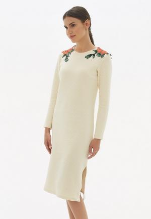 Платье Sabellino. Цвет: бежевый