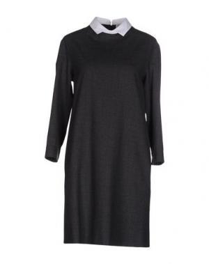 Короткое платье N/A. Цвет: свинцово-серый