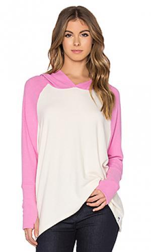 Свободный пуловер с капюшоном и рукавами-реглан ivo Michael Lauren. Цвет: розовый