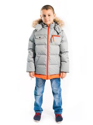 Куртка Игорь Аксарт. Цвет: оранжевый, серый