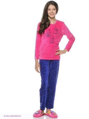 Комплект одежды Vienetta Secret. Цвет: малиновый, синий