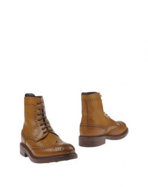 Полусапоги и высокие ботинки GREEN GEORGE. Цвет: верблюжий