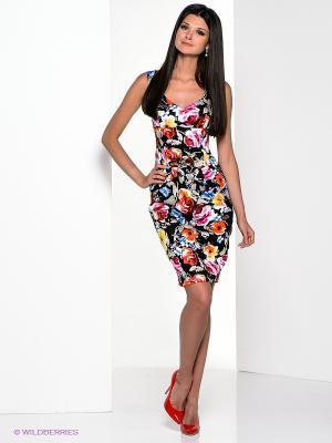 Платье Yulia Dushina. Цвет: черный, синий, фуксия