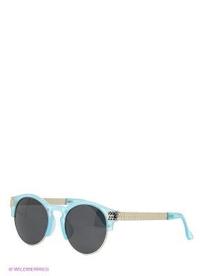 Солнцезащитные очки To be Queen. Цвет: голубой, серебристый