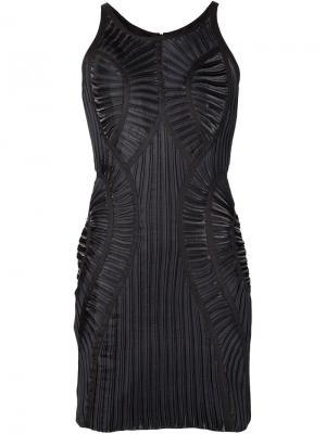 Облегающее плиссированное платье Iris Van Herpen. Цвет: чёрный