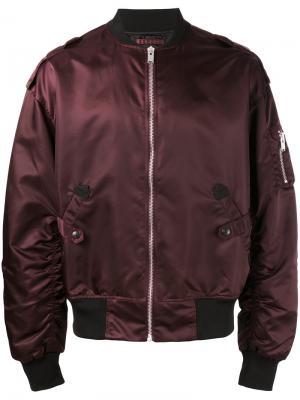 Куртка-бомбер на молнии Misbhv. Цвет: красный