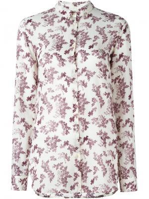 Рубашка с цветочным принтом Forte. Цвет: розовый и фиолетовый