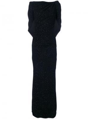 Вечернее платье с элементом накидки Talbot Runhof. Цвет: чёрный