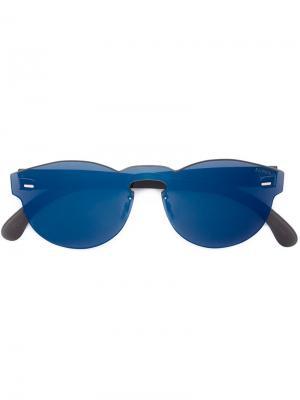 Круглые солнцезащитные очки Retrosuperfuture. Цвет: синий