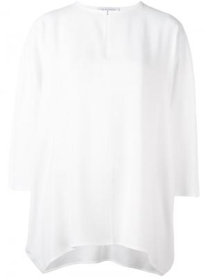 Блузка с вырезом замочная скважина Gianluca Capannolo. Цвет: белый