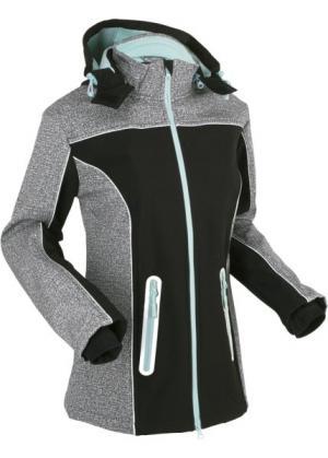 Куртка-софтшелл со светоотражающими деталями (черный) bonprix. Цвет: черный