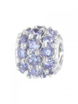 Шар из камней фиолетовый Sun&Moon Charm. Цвет: серебристый