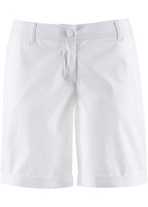 Бермуды-стретч (белый) bonprix. Цвет: белый