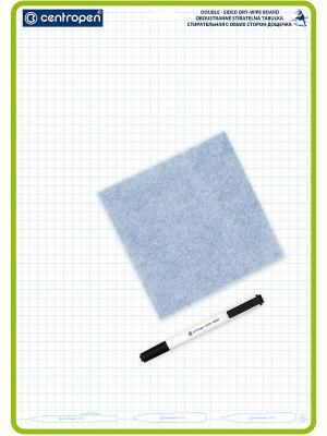 Доска для рисования в клетку Centropen. Цвет: белый