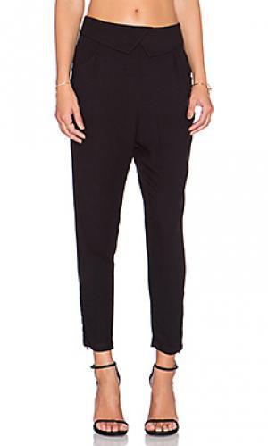 Брюки tapered trouser LA Made. Цвет: черный