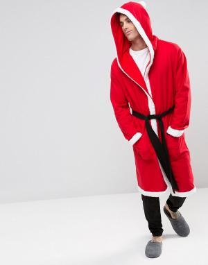 ASOS Халат Санта-Клаус. Цвет: красный