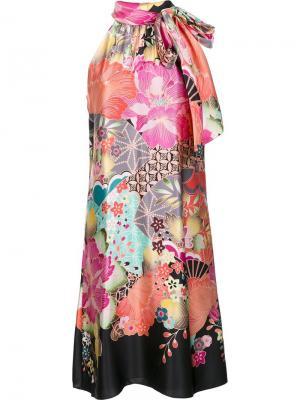Платье Becoming Trina Turk. Цвет: многоцветный
