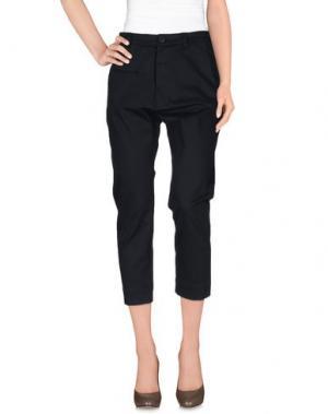 Повседневные брюки CENTOQUATTRO. Цвет: темно-синий