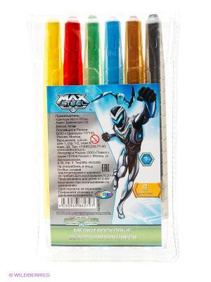 Набор восковых мелков Max Steel, 6 цветов Centrum. Цвет: синий