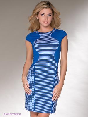 Платье V&V. Цвет: синий