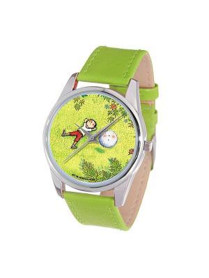 Часы Mitya Veselkov Карапуз и снежок (светло-зеленый) Арт. Color-95. Цвет: зеленый