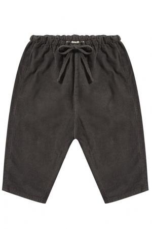Хлопковые брюки Caramel Baby&Child. Цвет: серый