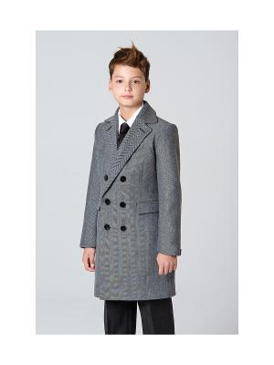 Пальто классическое MORU. Цвет: серый