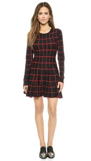 Платье Off the Grid JOA. Цвет: черный/красный