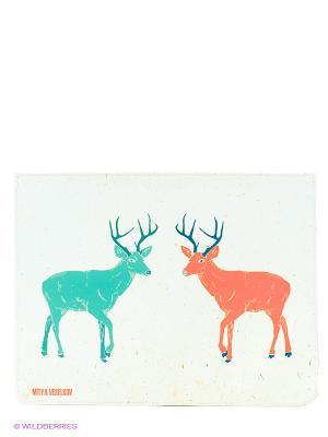 Чехол для IPad, Два оленя Mitya Veselkov. Цвет: белый, голубой, коричневый
