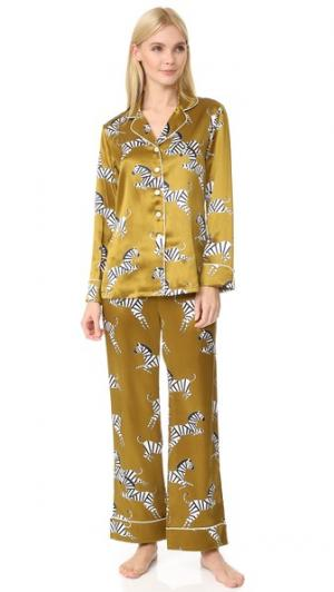 Пижама Lila Mona Olivia von Halle. Цвет: мох