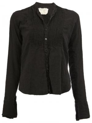 Плиссированная блузка Greg Lauren. Цвет: чёрный
