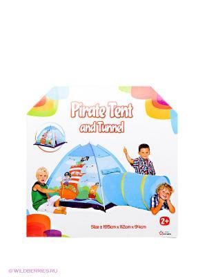 Палатка с туннелем Пираты Five Stars. Цвет: голубой