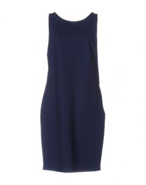Короткое платье CRISTINAEFFE. Цвет: темно-синий