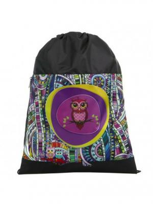Мешок для обуви UNION. Цвет: черный, бирюзовый, темно-фиолетовый