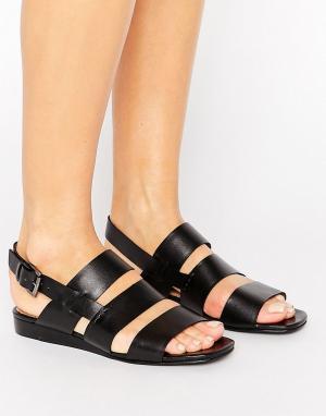 Park Lane Кожаные сандалии. Цвет: черный