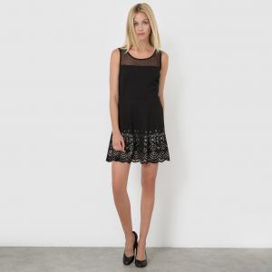 Платье без рукавов MOLLY BRACKEN. Цвет: черный