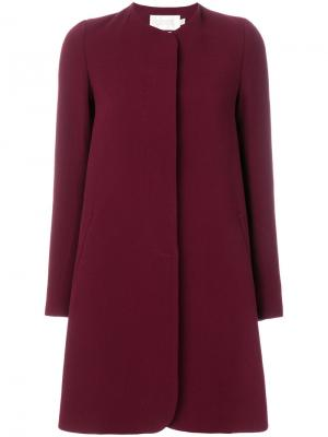 Классическое пальто на пуговице Goat. Цвет: красный