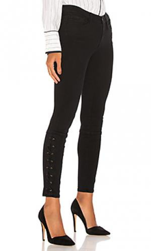 Узкие джинсы на шнуровке elise Etienne Marcel. Цвет: none