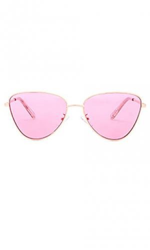 Солнцезащитные очки x revolve echo Le Specs. Цвет: розовый