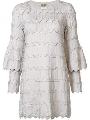 Платье с двухслойными рукавами Pepa Pombo. Цвет: телесный