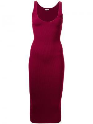 Вязаное платье Dion Lee. Цвет: красный
