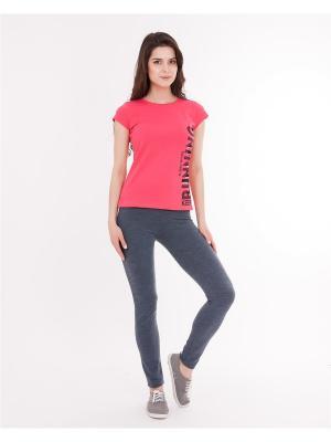 Комплект одежды: футболка, леггинсы Mark Formelle. Цвет: серый, малиновый