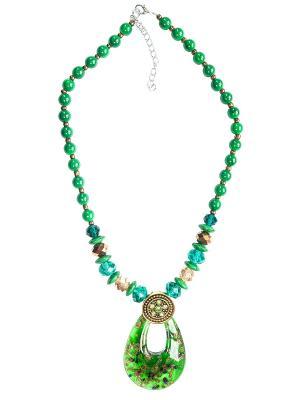 Колье Castlelady. Цвет: зеленый, бронзовый, золотистый