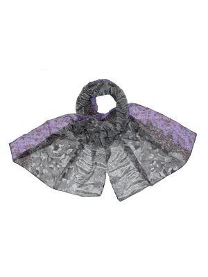 Шарф Ethnica. Цвет: серый, темно-фиолетовый